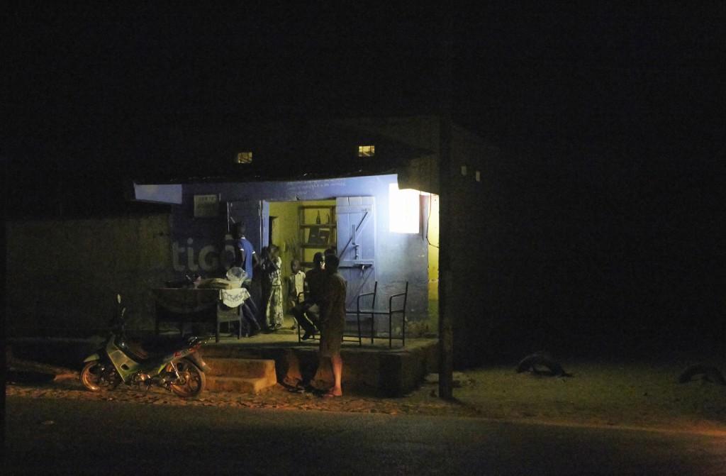 Night- time in Podor, Senegal